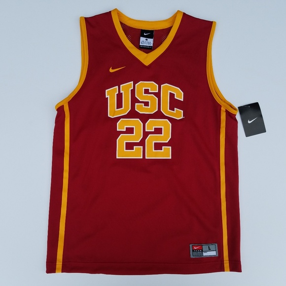 new concept b5984 4040f NEW Youth Large USC Trojans Basketball Jersey NWT